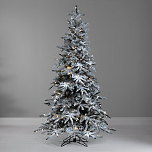 Buy John Lewis Pre-Lit Snowy Mountain Pine Christmas Tree, 7ft Online at johnlewis.com