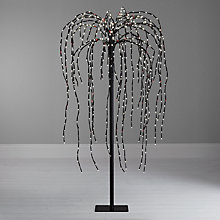 Buy John Lewis Pre-Lit Weeping Willow Christmas Tree, 4ft Online at johnlewis.com