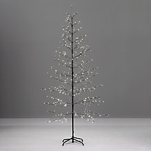 Buy John Lewis Snowy Twig Pre-Lit Christmas Tree, White, 8ft Online at johnlewis.com