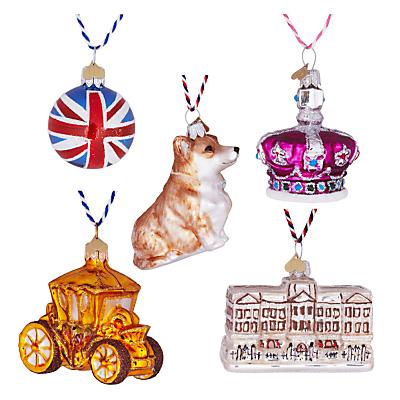 Image of Bombki Tourism Little Royal London Glass Hanging Decorations, Set of 5