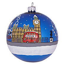 Buy Bombki London Sky Glass Tree Decoration, Blue Online at johnlewis.com