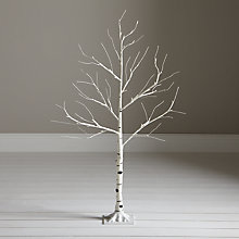 Buy John Lewis Pre-Lit Paper Birch Christmas Tree, White, 4ft Online at johnlewis.com
