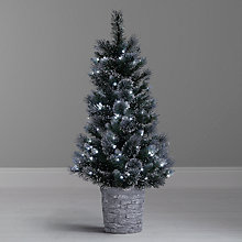 Buy John Lewis Pre-Lit White and Glitter Porch Christmas Tree, 4ft Online at johnlewis.com