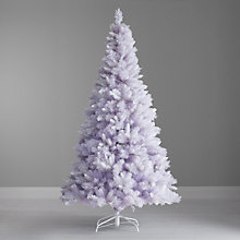 Buy John Lewis Pre-Lit Newport White Christmas Tree, 7ft Online at johnlewis.com