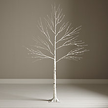 Buy John Lewis Pre-Lit Paper Birch Christmas Tree, White, 8ft Online at johnlewis.com