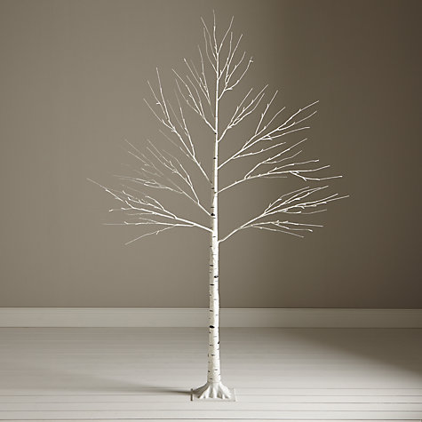Buy John Lewis Pre-Lit Paper Birch Christmas Tree, White ...