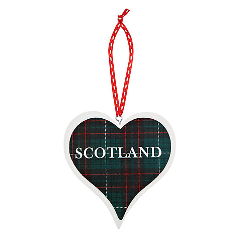 Buy Deck the Halls Wooden Scotland Heart Hanging Decoration Online at johnlewis.com