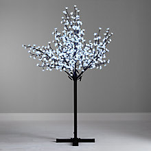 Buy John Lewis Pre-Lit Cherry Blossom Christmas Tree, Cool White, 7ft Online at johnlewis.com