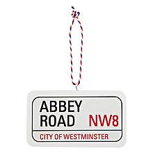 Buy Deck The Halls Abbey Road Street Sign Hanging Decoration Online at johnlewis.com