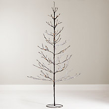 Buy John Lewis 6ft Pre-Lit Snowy Twig Christmas Tree, White Online at johnlewis.com