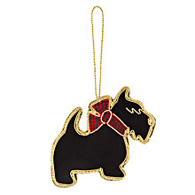 Buy Tartan Scarf Scottie Dog Hanging Decoration Online at johnlewis.com