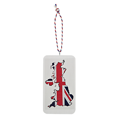 Image of Deck The Halls Wooden Great Britain Hanging Decoration