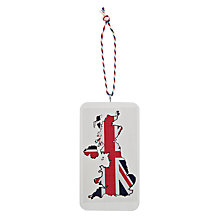 Buy Deck The Halls Wooden Great Britain Tree Decoration Online at johnlewis.com