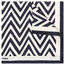 Buy Aquascutum Silk Zig Zag Pocket Square, Navy/White Online at johnlewis.com