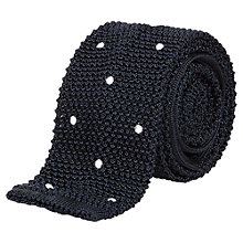 Buy Aquascutum Knitted Silk Spot Tie Online at johnlewis.com