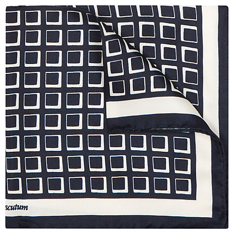 Buy Aquascutum Silk Cube Print Pocket Square Online at johnlewis.com