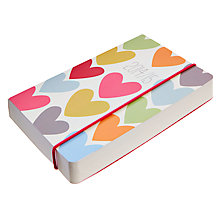 Buy Letts Hearts Perfect Bound Week on 2 Pages A6 Mid Year 2014/15 Diary Online at johnlewis.com