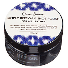 Buy Oliver Sweeney Diamond Simply Beeswax Shoe Polish, Black Online at johnlewis.com