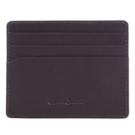 Buy Oliver Sweeney Geometric Diamond Print Card Holder, Chocolate/Royal Online at johnlewis.com