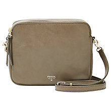 Buy Fossil Sydney Across Body Leather Bag Online at johnlewis.com