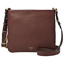 Buy Fossil Preston Leather Satchel Bag Online at johnlewis.com