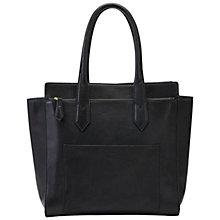Buy Fossil Knox Leather Tote Bag, Black Online at johnlewis.com