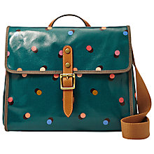 Buy Fossil Keyper Flap Over Across Body Bag, Peacock Blue Online at johnlewis.com