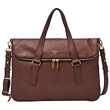 Buy Fossil Preston Leather Tote Bag Online at johnlewis.com