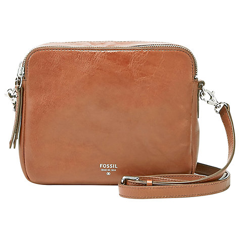 Buy Fossil Sydney Cross Body Leather Bag Online at johnlewis.com