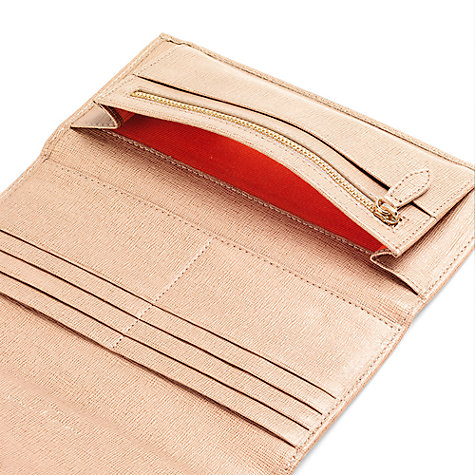 Buy Aspinal of London Brook Street Purse Leather Wallet, Deer Saffiano Online at johnlewis.com