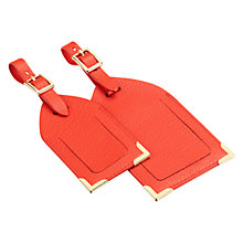Buy Aspinal of London Leather Luggage Tags, Pack of 2 Online at johnlewis.com