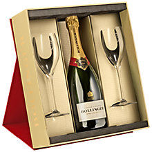 Buy Bollinger Special Cuvée Champagne and Two Glasses Set, 75cl Online at johnlewis.com