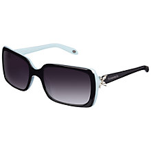 Buy Tiffany & Co 0TF4047B Victoria Rectangular Sunglasses, Black Online at johnlewis.com