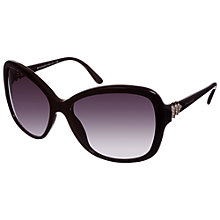 Buy Bvlgari 0BV8135B 501/8g Square Frame Sunglasses, Black Online at johnlewis.com