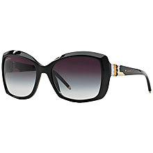 Buy Bvlgari 0BV8133 501/8G Square Frame Sunglasses, Black Online at johnlewis.com