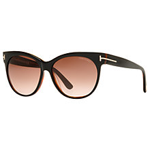 Buy TOM FORD FT0330 03B Aviator Metal Framed Sunglasses, Blue/Grey Online at johnlewis.com