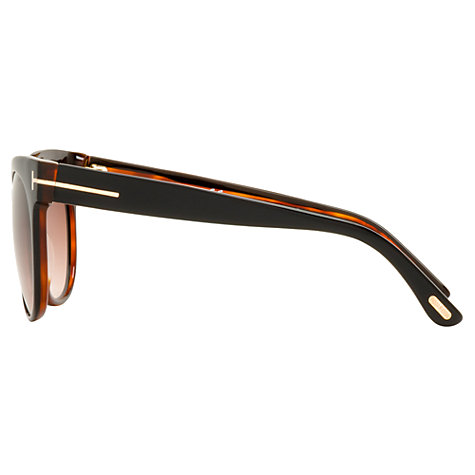 Buy TOM FORD FT0144 14D Aviator Metal Framed Sunglasses, Blue/Grey Online at johnlewis.com