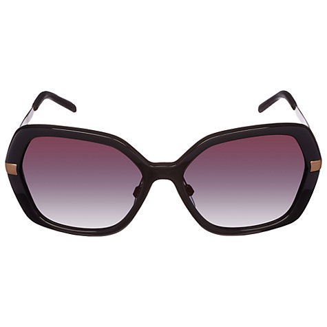 Buy Burberry 0BE4153Q Trench Collection Round Frame Sunglasses, Black Online at johnlewis.com