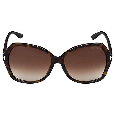 Buy TOM FORD FT0328 Carola Squared Sunglasses, Havana Online at johnlewis.com