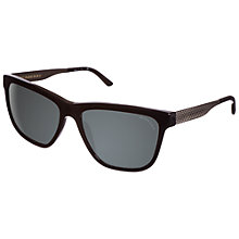Buy Burberry 0BE4163 30016G Square Framed Sunglasses, Black Online at johnlewis.com