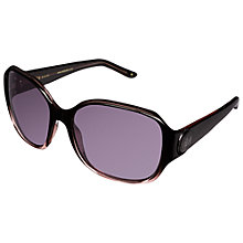 Buy Ted Baker TB1254 Beverly Sunglasses, Black / Pink Online at johnlewis.com