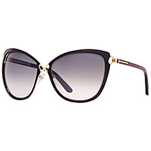 Buy TOM FORD FT0322 Celia Butterfly Sunglasses, Gold/Black Online at johnlewis.com