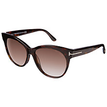 Buy TOM FORD FT0330 Upswept Frame Sunglasses, Brown Online at johnlewis.com