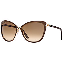 Buy TOM FORD FT0322 Celia Butterfly Sunglasses, Gold/Beige Online at johnlewis.com