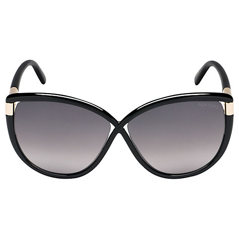 Buy TOM FORD FT0327 Butterfly Sunglasses, Black/Grey Online at johnlewis.com