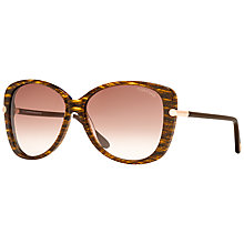 Buy TOM FORD FT0324 Linda Sunglasses, Brown Online at johnlewis.com