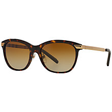 Buy Burberry BE4169 Gradient Square Sunglasses, Havana Online at johnlewis.com