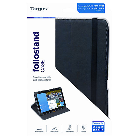 "Buy Targus Foliostand Case for Samsung Galaxy TabPRO & NotePRO 12.2"", Black Online at johnlewis.com"