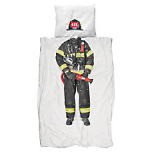 Buy Snurk Firefighter Single Duvet Cover and Pillowcase Set Online at johnlewis.com