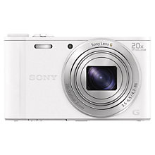 "Buy Sony Cyber-shot DSC-WX350 Camera, HD 1080p, 18.2MP, 20x Optical Zoom, Wi-Fi, NFC, 3"" Screen with 8GB Card & Case Online at johnlewis.com"